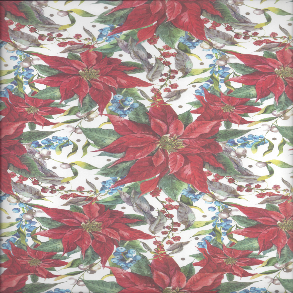 Christmas Flowers Wrapping Paper