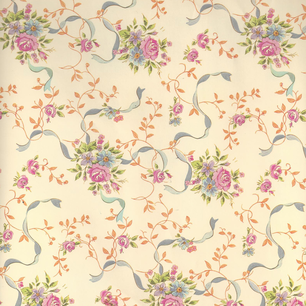 Sale Ribbons And Flowers Wrapping Paper