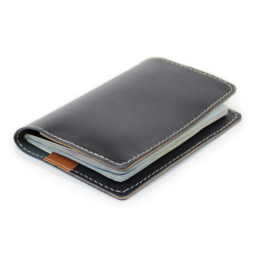 Leather Passport Wallet folded closed