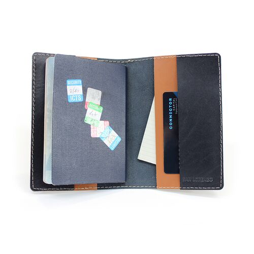 Leather Passport Wallet holds credit cards