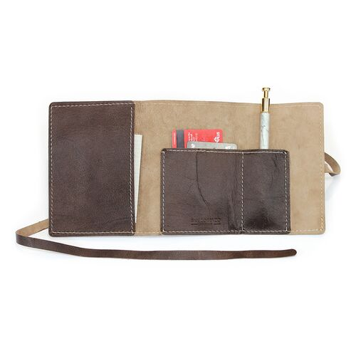 Leather Wrap Accessory Case stores documents and credit cards