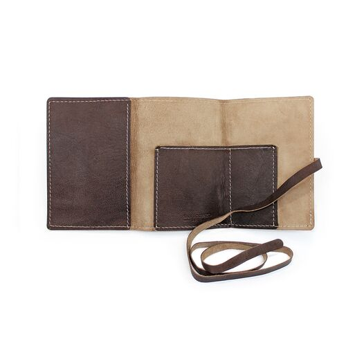 Leather Wrap Accessory Case inside pockets