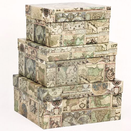 Maps Nesting Boxes (Set of 3)