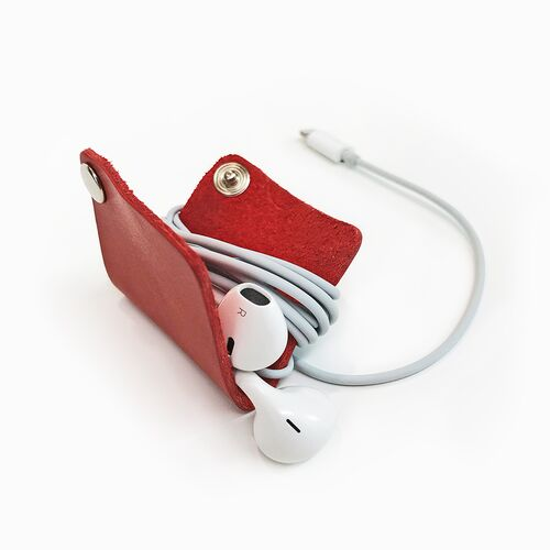 Leather Cord Organizer for earbuds