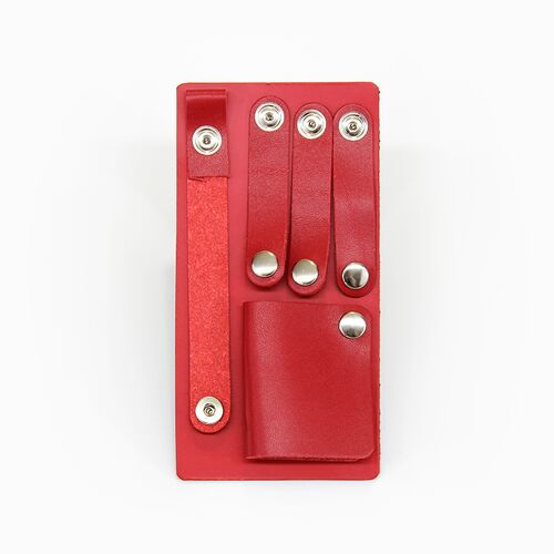 Leather Cord Organizer Kit in Modern Red