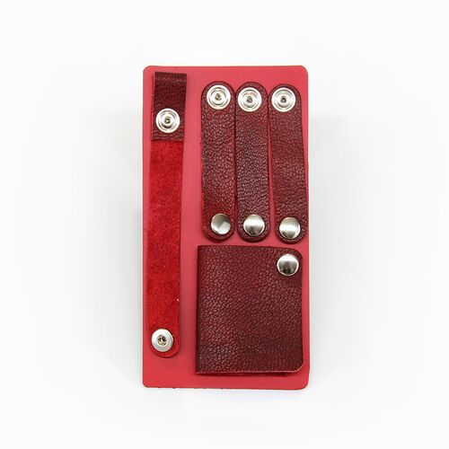Leather Cord Organizer Kit in Vintage Red