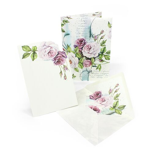 Floral Portfolio with Large Cards
