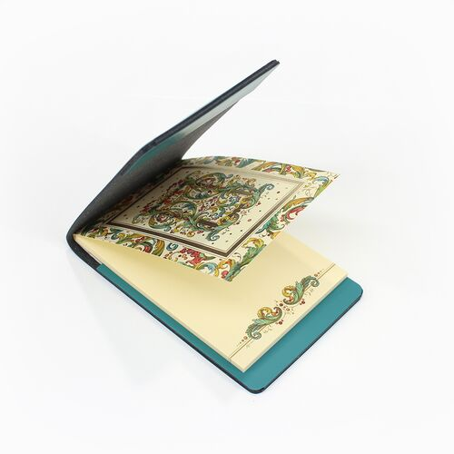 Signoria memo pad with Teal Memo Holder
