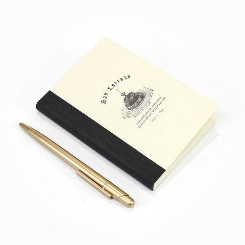A6 Grid Notebook Refill, Black Spine