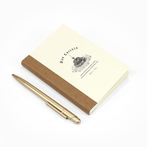A6 Grid Notebook Refill, Brown Spine