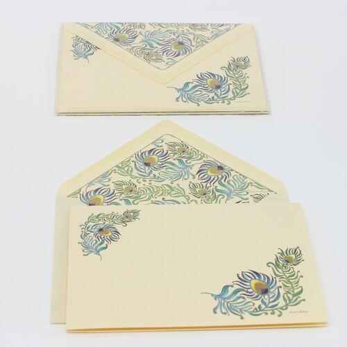 Peacock Large Folding Card Letter Writing Set