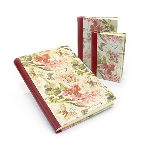 Romantica Notebook with Leather Spine
