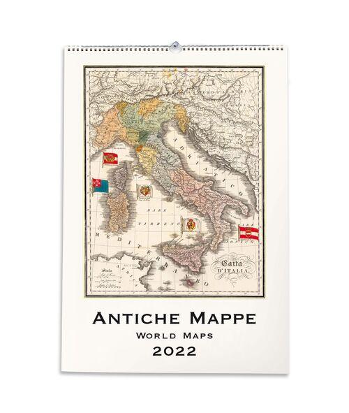 Antique World Maps Calendar front cover