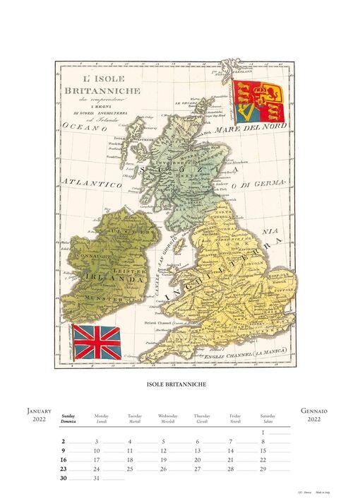 Antique Maps Calendar inside page