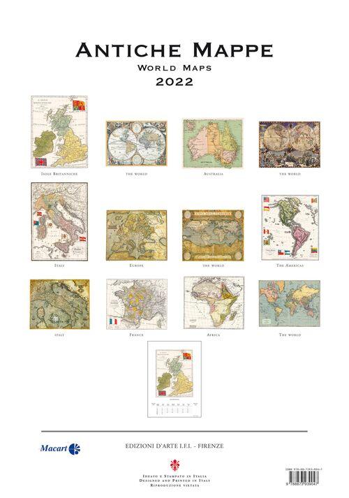 Antique Maps Calendar back cover