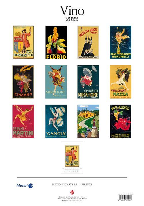 Vintage Posters Calendar inside page